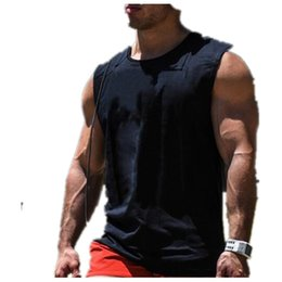 Wholesale Gorilla Fitness - Wholesale- 2016 new tank top brand fitness clothing fitness fitness black male vest gold gorilla wear a sweater vest stringer movement