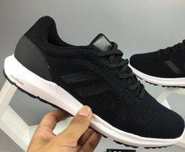 Wholesale Cosmic Black - Big discount hot-sell lovers fashion cosmic w knit Running Shoes Men Women Mesh NMD black Sports Shoes 2018 Size 36-45 drop shipping