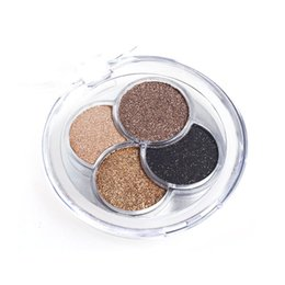 Wholesale Shine Pigment - Wholesale-4 Colors Professional Diamond Bright Eyeshadow Makeup Super Flash Shining Glitter Eye Shadow Pigment Powder Palette sombra