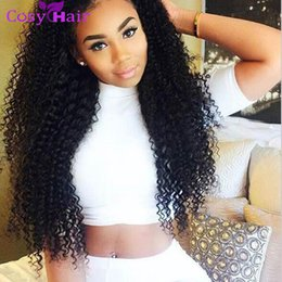 Wholesale Unprocessed Kinky Curl - Brazilian Curly Human Hair Weaves 5 6 Bundles Unprocessed 8A Peruvian Malaysian Indian Cambodian Mongolian Jerry Kinky Curls Hair Extensions