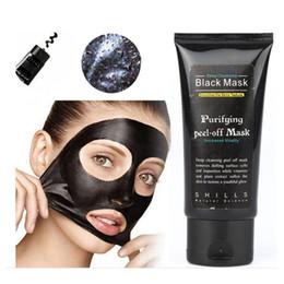 Brushes de alta Qualidade Peel-off rosto Máscaras Limpeza Profunda Máscara Preta 50 ML Cravo Facial Top seller frete grátis cheap cleansing masks de Fornecedores de máscaras de limpeza