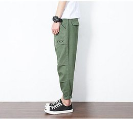 Wholesale Japanese Palace - PALACE VETEMENTS VLONE men trousers 2017 trend of the summer summer new Japanese original feet nine pants loose loose pants men