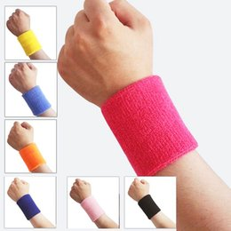 elastic wrist sweatbands Promo Codes - Wholesale- 1pc Cotton Elastic Breathable Sports Wristbands Sweatbands Gym Workout Washable Fitness Accessories wrist wraps s2