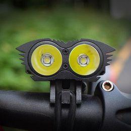 Wholesale Lumen Cycle Lights - Hot Sale X2 6000 Lumen CREE Bike light 2 LED Lanterna T6 Bicycle Front Light Cycling lights Headlights Pack Cycling Light
