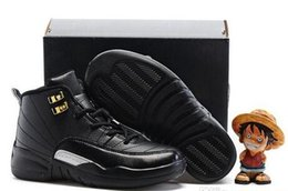 Wholesale Birthday For Boys - cheap Kids Air Retro 12 Shoes Children Basketball Shoes for Boys Girls Retro 12s Black Sports Shoe Toddlers Athletic Shoes Birthday Gift
