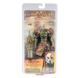 """Wholesale Kratos Ares Armor - 7"""" NECA God of War 2 II Kratos in Ares Armor W Blades PVC Action Figure Toy Doll GW002"""