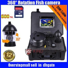 Wholesale Underwater Fishing Dvr - DVR Underwater PTZ rotation camera 360 degree CR110-7C with 7 Inch LCD moniot box 360 rotation underwater fishing camera