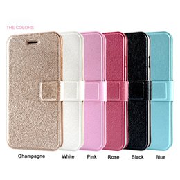 Wholesale Iphone 4s Gold - Silk Texture PU Leather Wallet Case Stand Card Slots Phone Cases For iPhone X 4S 5S 6S 7 8 Plus Flip Cover DHL