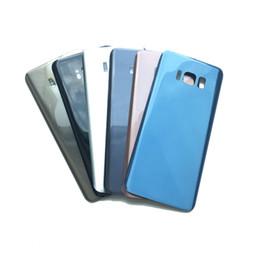 Корпус среднего шасси крышка батарейного отсека задняя дверь для Samsung Galaxy S8 G950 S8 Plus G955 черный синий золотой серый с клейкой наклейкой от