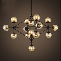Wholesale Edison Chandeliers - Modo Bean Chandelier Edison Industrial Pendant Lights Glass Ball Loft Ceiling Lamps Lighting Fixtures with 5 10 15 Heads