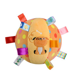 Wholesale peluche toy - Wholesale- 2017 Dog plush toys Baby musical Ball Rattle bell Toy brinquedo juguetes jouet crib stroller bed Mobile eductional peluche bebes