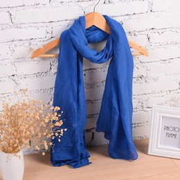 Wholesale Soft Winter Mufflers - Wholesale-New Fashion Winter Pure Women Scarf Long Cotton Candy Colors Shawl 18 Colors Warm Soft Women Muffler