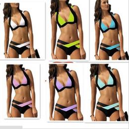 Spiaggia di micro costumi da bagno online-New Wholesale New Swimsuit Sexy Hot Erotic Micro Bikini Set Stripper Wear Beach Women Costumi da bagno Costumi da bagno Brasiliano Vintage Biquini