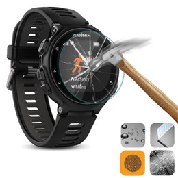 Wholesale Forerunner Garmin - Wholesale-Tempered Glass Rounded Watch Screen Protector Saver Shield Film Guard for Garmin Forerunner 735