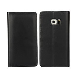 Wholesale S4 Smart Card Case - Wallet Flip Case PU Leather Case Multi Card Holder For samsung galaxy S4 S5 S6 S7 edge plus NOTE 4 Luxury Smart Phone Bag Cover Cases