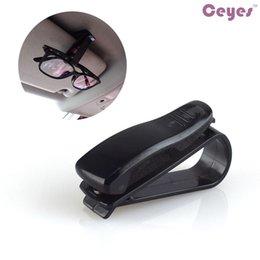 Wholesale Eyeglasses Holder Clip - Auto Car Styling Vehicle Glasses Portable Fastener Clip Eyeglasses Clip Ticket Card Clamp Black Sunglasses Holder Car Interior Accessories
