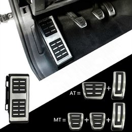 Wholesale Audi Golf Cap - Car Pedals Cap Foot Rest Cover Accelerator Brake Clutch For VW Golf 7 GTi MK7 Seat Leon Octavia A7 Rapid Audi A3 8V Passat VIII