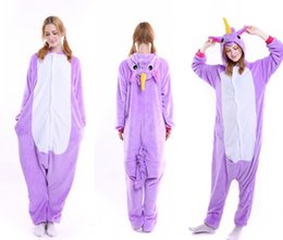 Wholesale Pajamas For Women Cheap - Fluffy Unicorn Onesie Pajamas Adult Cute Newcosplay Costumes Footed Pyjamas Onepiece For Women Plus Cheap Unicorn Fleece Pajamas For Juniors
