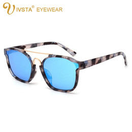 Wholesale Cat Dress White - IVSTA 2017 New Fashion Brand Designer Sunglasses Women Mirror Lenses Butterfly Style for Party Dress Summer so real 842