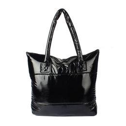 Wholesale Down Feathers Wholesale - Wholesale- Fabulous Hcandice 1PC Women Girl Space Bale Cotton Totes Handbag Feather Down Shoulder Bag Jun14