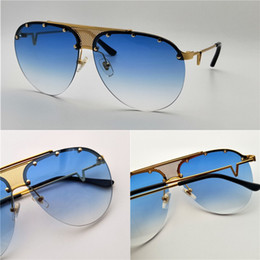 Wholesale Quality Hd - New fashion designer sunglasses 2178 pilot Frameless Rivets frame top quality HD Anti-UV400 lens with original box simple summer style