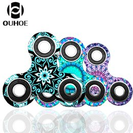 Wholesale Science Children - 6 styles Camouflage Fidget Spinner Triangle Tri Spinner EDC Toys For Autism And ADHD Children DecompressionToys Tri-Spinner Hand Spinners