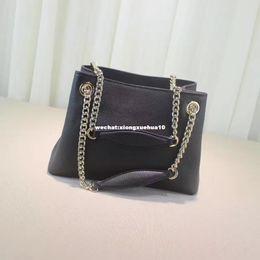 Wholesale Black Glitter Bag - 2017 hot sale brand Designer Women Genuine Leather Cowhide Handbags Fashion Tassel Soho Shoulder Bag With Chain GG 38cm or 26cm #308982
