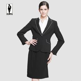 Wholesale Ladies Dress Skirt Suits - UR 27 Hot Sale Custom Made Autumn Bussiness Formal Elegant Women Suit Set Blazers Skirt Office Suits Ladies Dress Suits Skirt Suits Handmade
