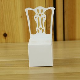 Wholesale White Chair Design - European Design White Chair Wedding Favor Holders Birthday Party Baby Shower Candy Boxes DIY Gifts Box