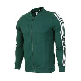 Wholesale Fitness Sweaters - Autumn men Neo superstar track 3-STRIPES baseball jacket casual long-sleeve Cardigan sweater Sportswear sports fitness running clothes coat