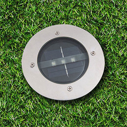 Wholesale Outdoor Led Lights 24v - Led Solar Waterproof Light 3 LED Lighting Buried Ground Underground Lights for Outdoor Fence Lamp Garden Yard Path Floor Light