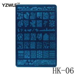 Wholesale Stamping Plates Series - Wholesale- 1 Sheet 2016 New Styles 9.5x14.5cm HK Series Stainless Steel Stamping Nail Art Image Plate Polish Manicure Stencil Tool HK-06