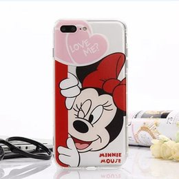 Wholesale Duck Iphone Cover - Cartoon Donald Duck Mickey mouse TPU painting phone case For iphone 6 6S 7 plus iphone 5S silicone case back protective cover shell
