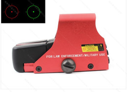 Wholesale green airsoft guns - 551 Red And Green Dot Holographic Sight Scope Hunting Reflex Sight Riflescope With 20mm Rail Mount For Airsoft Gun with Red Color