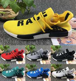 Wholesale Men Shoe Classic - 2017 Pharrell Williams NMD HUMAN RACE In Yellow red black blue grey green white men women Classic Fashion Sport sneakers Shoes us 5-11