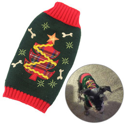 Wholesale New Design Sweaters - New Design Dog Puppy Clothes Pets Clothing Winter Christmas Sweaters Small Dog Clothes Apparel JJ0211