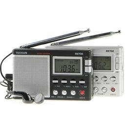 2019 rádio multi bandas Atacado-TECSUN R-9702 Display Digital de dupla conversão Multi-band Stereo Radio desconto rádio multi bandas