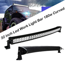 Wholesale Bumper Truck - 32 Inch 180W Curved LED Light Bar For Boat Off-road Truck Jeep Ford Tractor 4WD SUV Combo Beam Fog Roof Driving Work Lamp Bumper Lights 30""