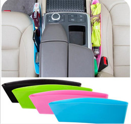 Wholesale Key Seat - 50pcs Toughness Compressible Type Car Seat Crevice Debris Storage Box For Wallet Key Storage Box Seat Pocket Catcher G104