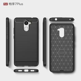 Canada Fiber De Carbone Case Pour Huawei Y3 Y5 Y6 2017 Silicone Couverture Arrière POUR Huawei Y7 Prime Profitez 6 S 7 Plus Texture Souple TPU Offre