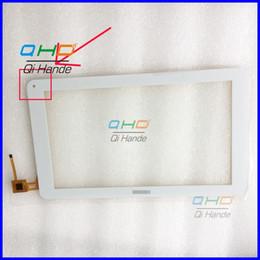 Tableta de 9,7 pulgadas de color blanco online-Al por mayor- 1PCS blanco 10.1 '' pulgadas pantalla de escritura a mano de la PC para ODYS IEOS QUAD PRO pantalla táctil digitalizador del sensor de piezas de repuesto del panel