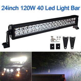Wholesale 22 Inch Led Light Bars - 22 inch 120W Led Offroad Light Bar for Trucks Tractor ATV SUV Boat Jeep Spot Flood Combo Beam Led Working Light Offroad Driving Lamp 4X4