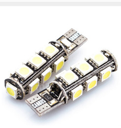 Wholesale Smd Canbus 13 - 100PCS T10 13 smd 5050 led Canbus Error Free Car Lights W5W 194 13SMD LIGHT BULBS