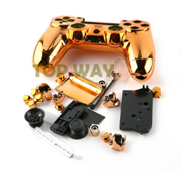 Wholesale Playstation Mod - Newest Chrome Plating Housing Shell Case Full Mod Kits for PlayStation 4 for PS4 Controller Parts Multicolors