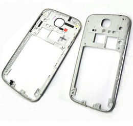 Wholesale S4 Back Plate - For Samsung Galaxy S4 i9505 I9500 i337 Back Housing Middle Bezel Frame Plate Case With Side Button Key By Dhl