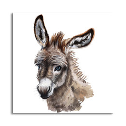 Wholesale Photo Oil Paintings - oil Painting Donkey Hd printcanvas painting Photo print painting Prints Wall Pictures for Living Room Picture B-27