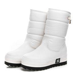 Wholesale Super Platform Boots - Wholesale-2017 new women waterproof snow boots snowflake cotton super warm shoes women's winter platform Mid-Calf boots #0784