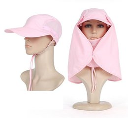 Wholesale Hat man in the summer sun devil hat outdoor cover face sun visor sun hat fishing men women cap