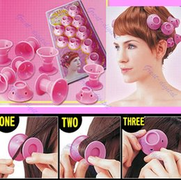 Wholesale Plastic Curlers - Hairstyle Soft Hair Care DIY Peco Roll Hair Style Roller Curler Salon 10pcs lot Hair Styling Tools
