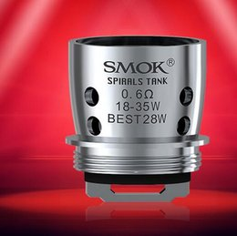 Wholesale Import Cotton - SMOK Spirals Replacement Coil 0.6ohm 0.3ohm Dual Core with Japan Imported Cotton SMOK Spirals Replacement Coil 100% Original